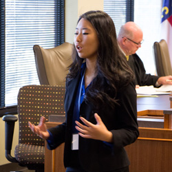 Attorney speaking